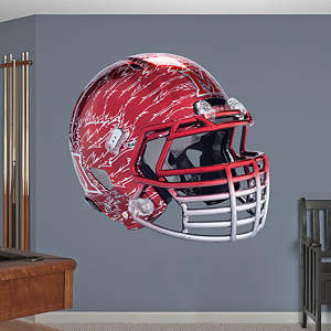 Miami RedHawks Chrome Helmet Fathead Wall Decal